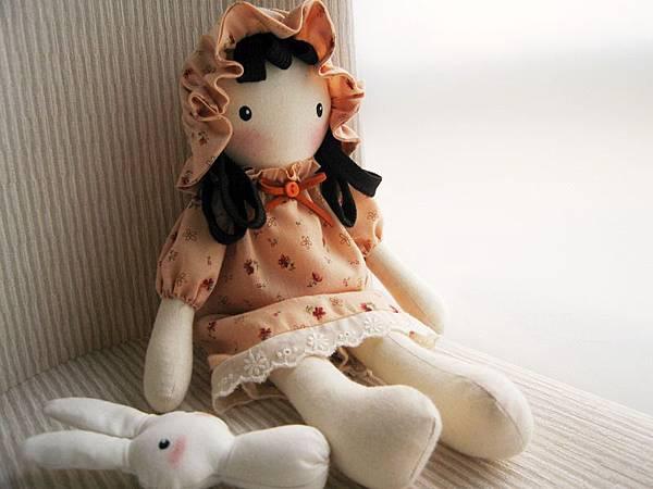 9號粉橘鄉村娃娃(1)