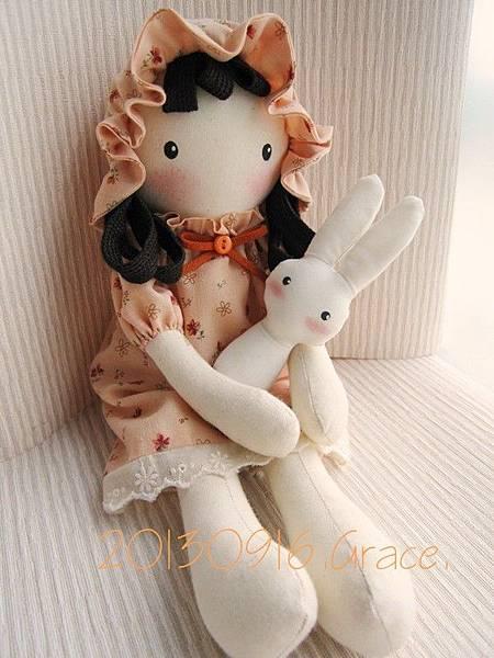 粉橘鄉村娃娃(4)