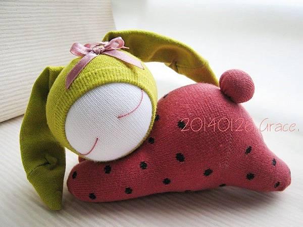 114號襪娃草莓兔 (3)