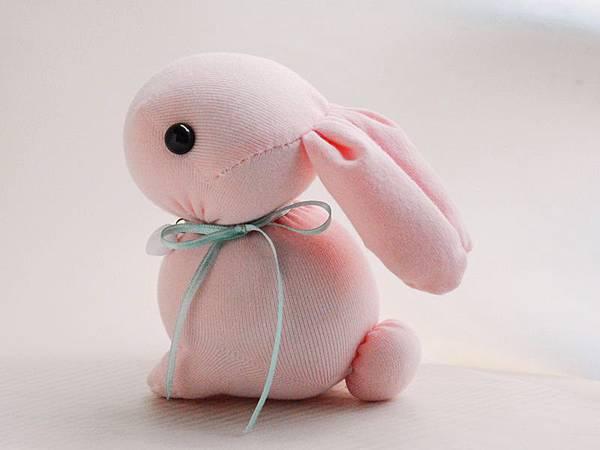 135號襪子娃娃棉花糖兔兔 (2)