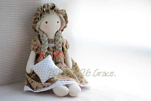 30號手作娃娃櫻桃小玫瑰 (2)