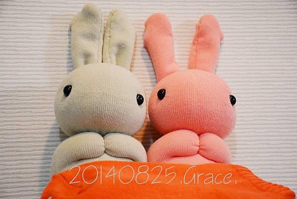 襪子娃娃147+148號馬鈴薯姐妹兔 (1)