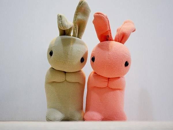 襪子娃娃147+148號馬鈴薯姐妹兔 (2)