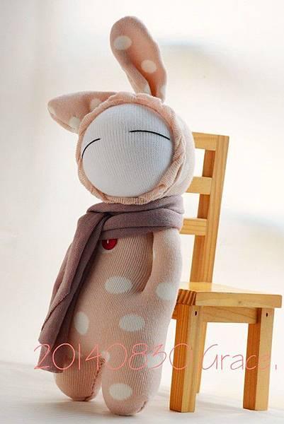 襪子娃娃149號之水玉Bunny (5)