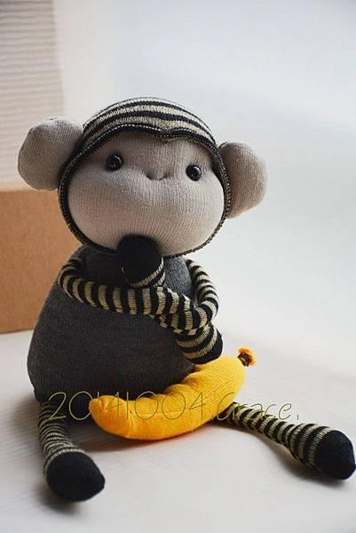 襪子娃娃160號之小灰猴 (3)1