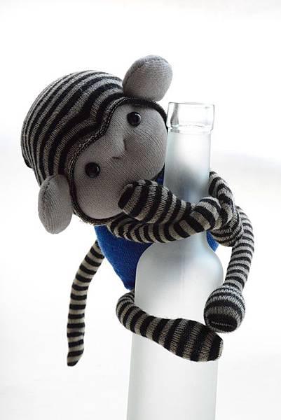 襪子娃娃161號小藍猴 (2)