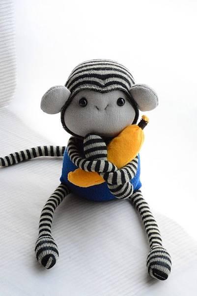 襪子娃娃161號小藍猴 (3)
