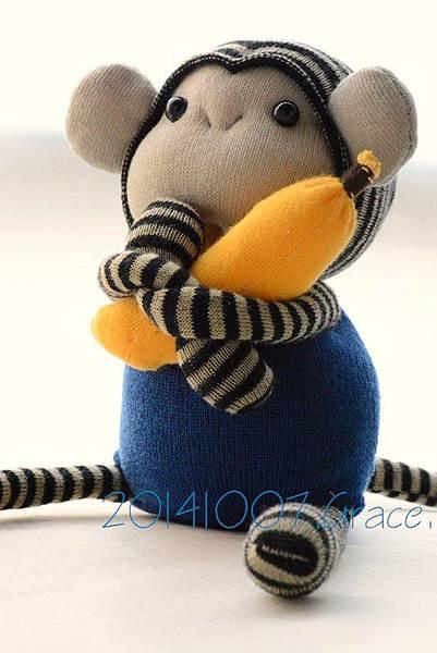襪子娃娃161號小藍猴 (6)1