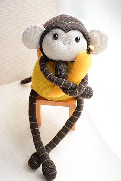 襪子娃娃162號黃芥末小猴 (1)