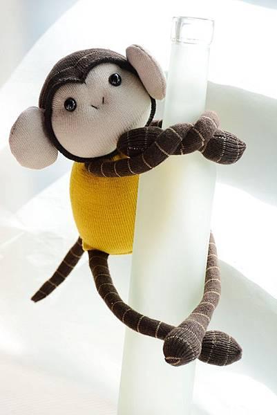 襪子娃娃162號黃芥末小猴 (4)