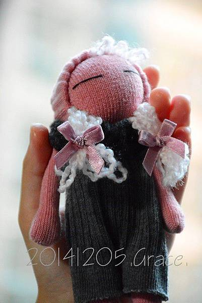 襪子娃娃169號櫻桃粉女孩 (5)