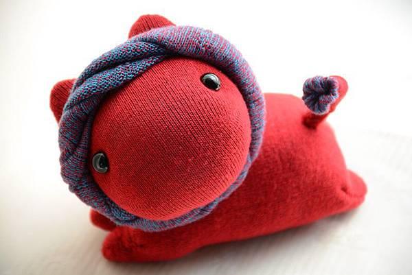 襪子娃娃170號貓小獅姐姐(2)