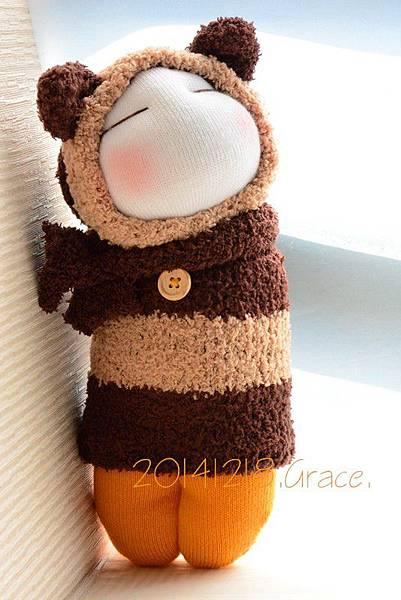 襪子娃娃173號肉鬆起司三角飯糰 (2)1
