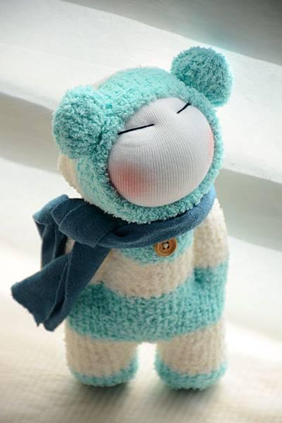 襪子娃娃179號之文青版的藍白拖 (2)