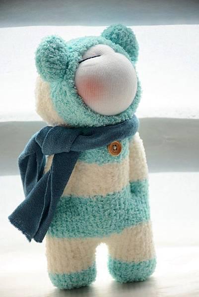 襪子娃娃179號之文青版的藍白拖 (3)