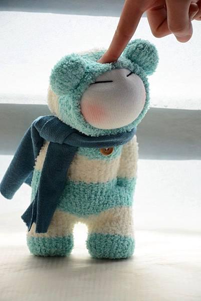 襪子娃娃179號之文青版的藍白拖 (4)
