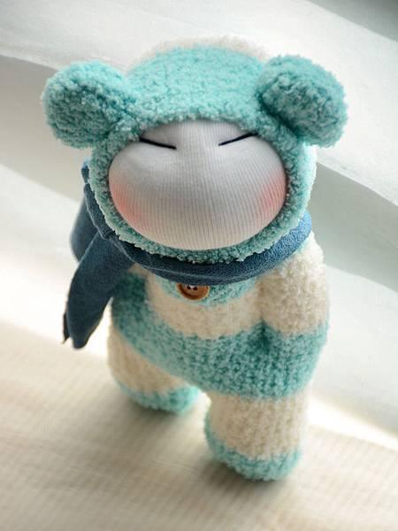 襪子娃娃179號之文青版的藍白拖 (5)