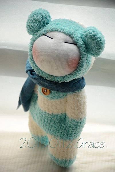 襪子娃娃179號之文青版的藍白拖 (6)