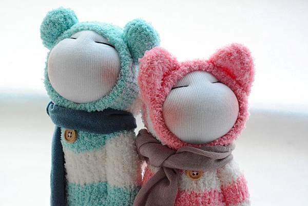 襪子娃娃179號藍白拖+180號紅白拖 (3)