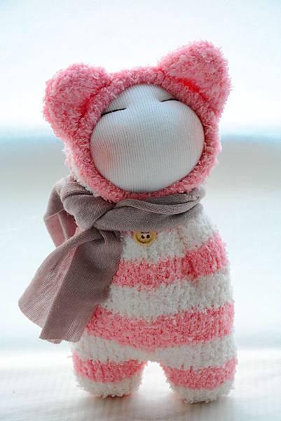 襪子娃娃180號紅白拖 (1)
