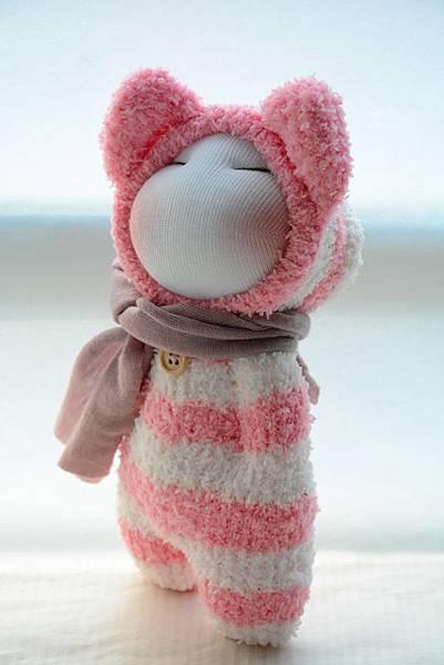 襪子娃娃180號紅白拖 (2)