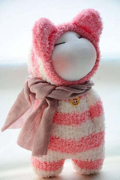 襪子娃娃180號紅白拖 (4)