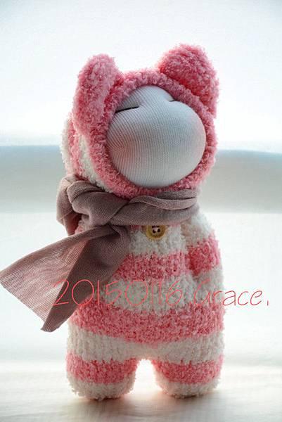 襪子娃娃180號紅白拖 (3)1