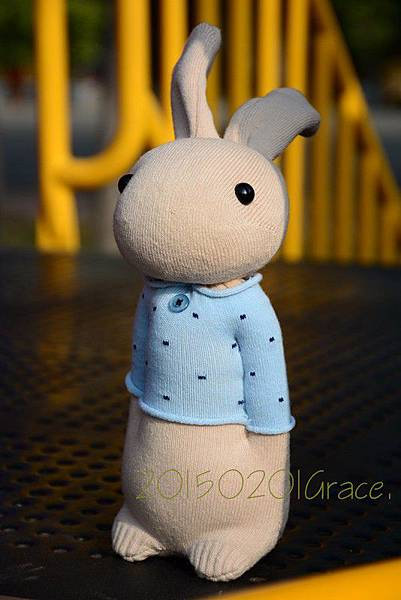 襪子娃娃181號清新暖男兔 (4)