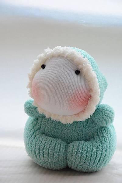 襪子娃娃183號湖水綠北鼻 (1)