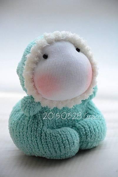 襪子娃娃183號湖水綠北鼻 (2)1