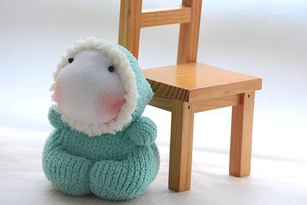 襪子娃娃183號湖水綠北鼻 (3)