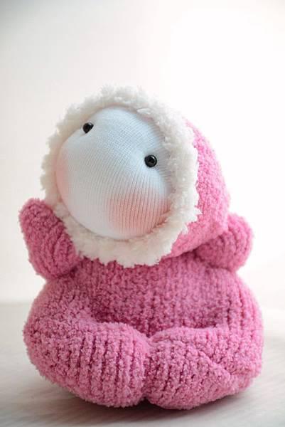襪子娃娃184號淺桃紅北鼻 (1)