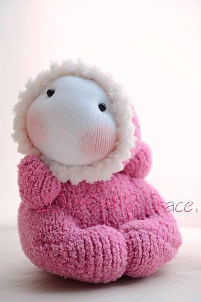 襪子娃娃184號淺桃紅北鼻 (2)