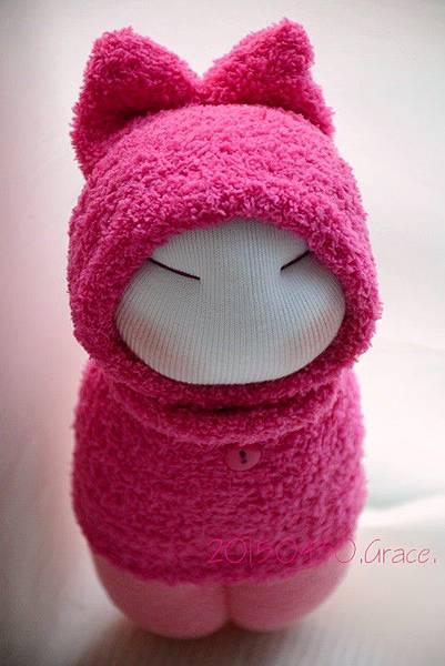 襪子娃娃187號桃紅小咪 (3)