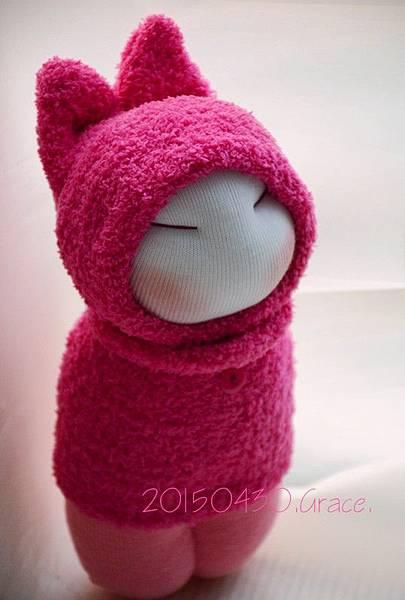 襪子娃娃187號桃紅小咪 (4)