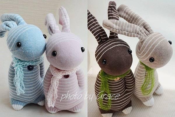 條紋兔4色