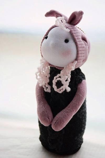 襪子娃娃195號兔耳小姑娘 (1)