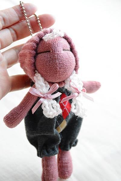 襪子娃娃196號櫻桃粉妹妹 (2)