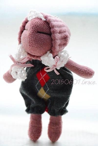襪子娃娃196號櫻桃粉妹妹4