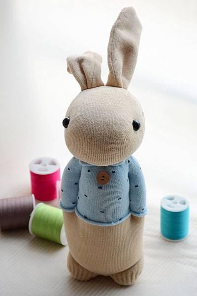 襪子娃娃199號清新暖男兔 (1)