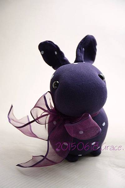 襪子娃娃200號紫糯米兔 (5)