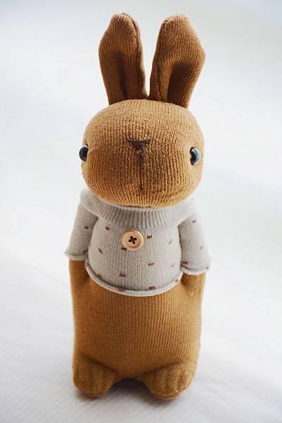 襪子娃娃202號花生醬兔兔 (1)
