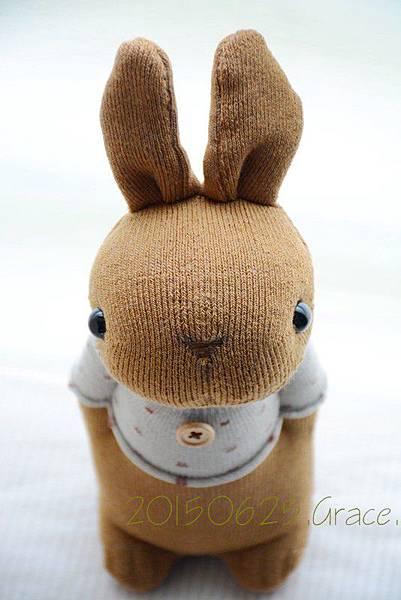 襪子娃娃202號花生醬兔兔
