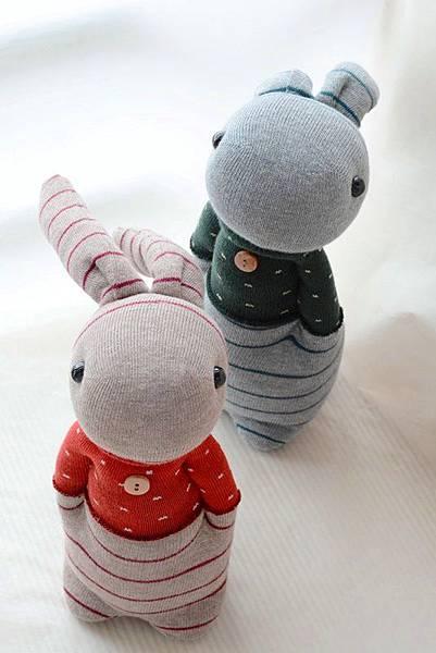 襪子娃娃205+206情侶兔 (1)