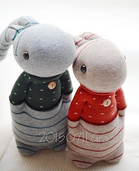 襪子娃娃205+206情侶兔 (4)1