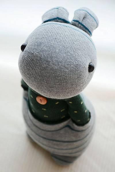 襪子娃娃205號情侶兔(男) (1)