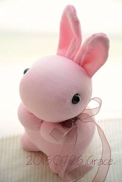 襪子娃娃215號粉紅小兔 (3)