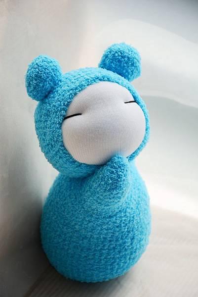 襪子娃娃229號天 藍小肥鼠 (1)