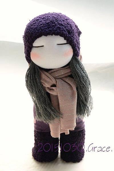 襪子娃娃231號紫靴女孩 (1)