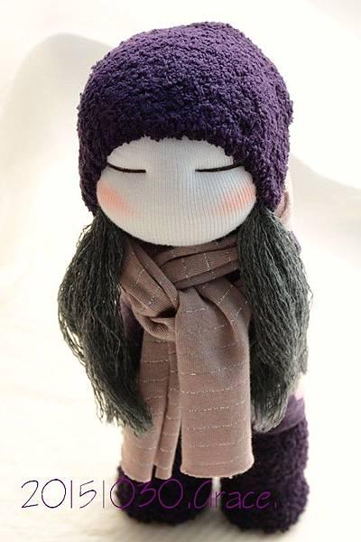 襪子娃娃231號紫靴女孩 (2)